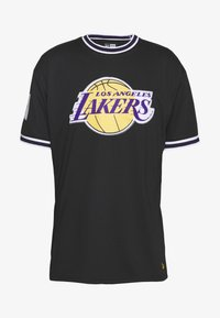 NBA LOS ANGELES LAKERS OVERSIZED APPLIQUE TEE - Print T-shirt - black
