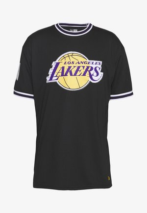 NBA LOS ANGELES LAKERS OVERSIZED APPLIQUE TEE - T-shirt con stampa - black