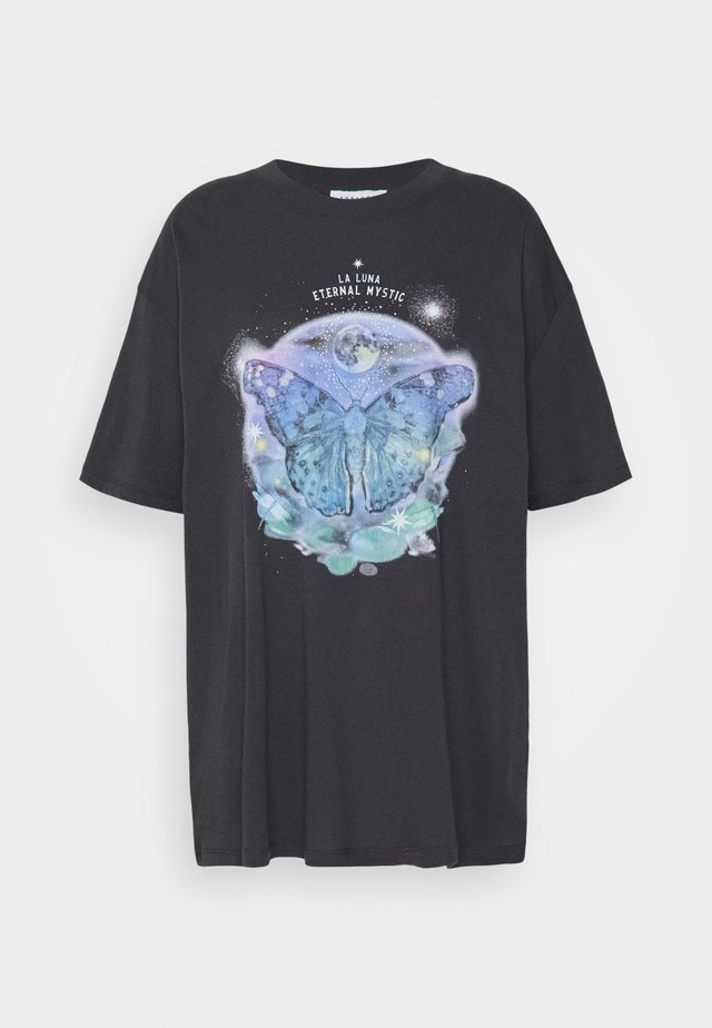 MYSTIC BUTTERFLY - T-shirts print - charcoal