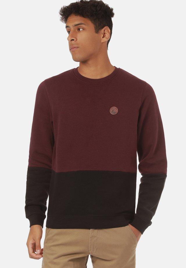 Sweater - cabernet/ black