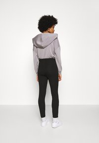 Even&Odd - High Waisted Punto Trousers with pockets - Trousers - black - 2