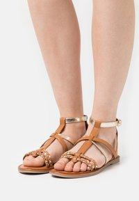 Tamaris - Sandals - nut/gold - 0