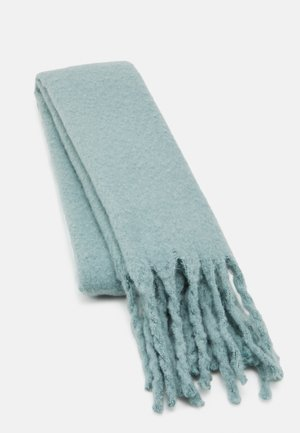 BIG FRINGE SCARF - Sjal - light aqua