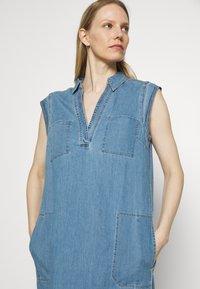 Marc O'Polo - DRESS TUNIQUE STYLE   - Shirt dress - blue denim - 4
