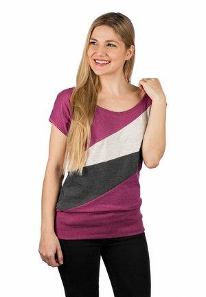 TUVA - Print T-shirt - mottled purple