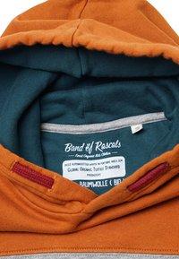 Band of Rascals - BLOCK - Hoodie - rust-dark-petrol - 2