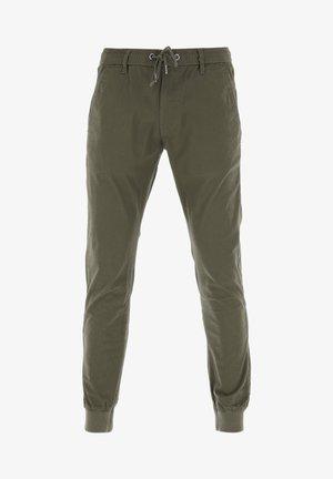 REFLEX RIB - Trousers - olive