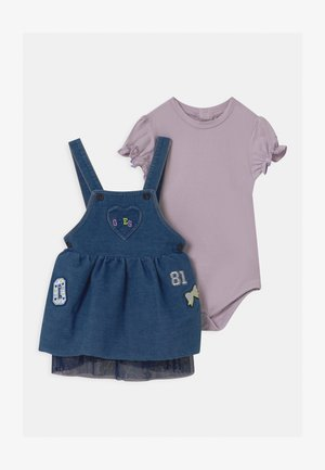 BABY SET - Denim dress - lavender blue