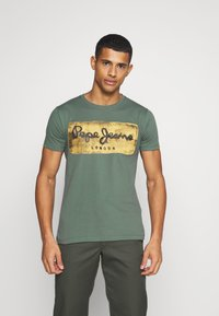 Pepe Jeans - CHARING - Print T-shirt - forest green - 0