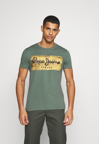 CHARING - T-shirt med print - forest green