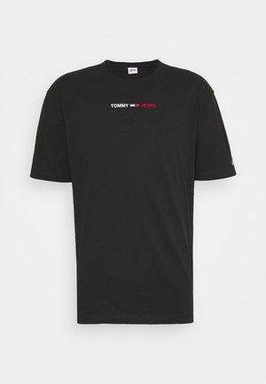 LINEAR LOGO TEE - T-shirt imprimé - black
