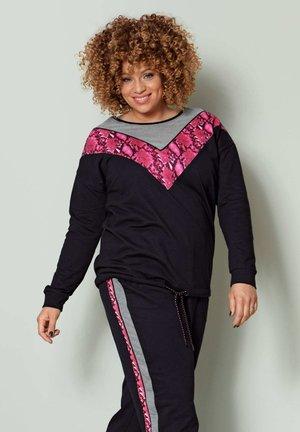 Sweatshirt - grau,pink,schwarz