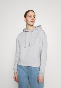 Pieces - PCCHILLI HOODIE - Hoodie - light grey melange - 0