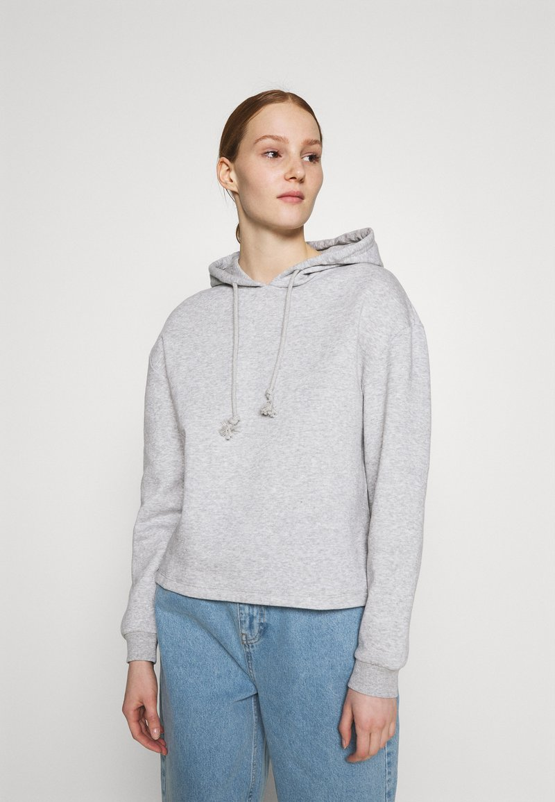 Pieces - PCCHILLI HOODIE - Hoodie - light grey melange