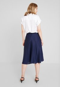 Esprit Collection - SOLID - A-line skirt - navy - 2