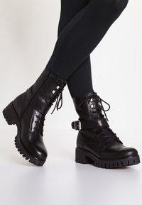 Zign - Cowboy/biker ankle boot - black - 0