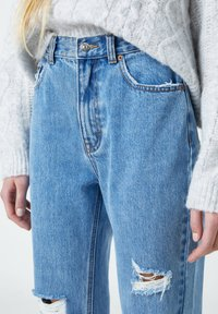 PULL&BEAR - Straight leg jeans - mottled dark blue - 3