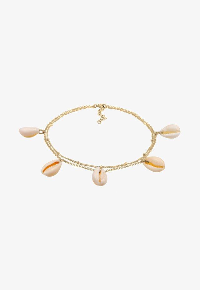 FUSSSCHMUCK KAURI MUSCHELN  - Armband - gold-coloured