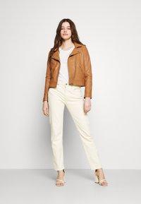 Vero Moda - VMMILANO JACKET - Leather jacket - cognac - 1