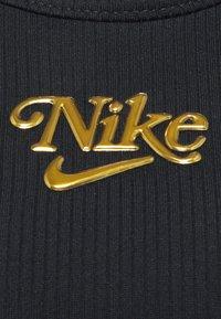 Nike Performance - FEMME ELASTIKA TANK - Toppe - black/metallic gold - 6