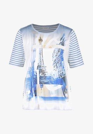 MIT MUSTERMIX - T-shirt print - blau/ecru/weiss multicolor