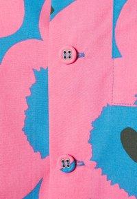 Marimekko - CREATED PUOLAIN - Button-down blouse - blue/dark green/rose - 2