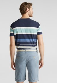 Esprit - MIT GÜRTEL - Shorts - grey blue - 3