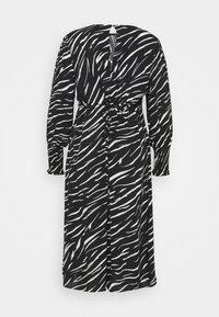 New Look Curves - SHIRRED DETAIL MIDI DRESS - Day dress - black pattern - 7