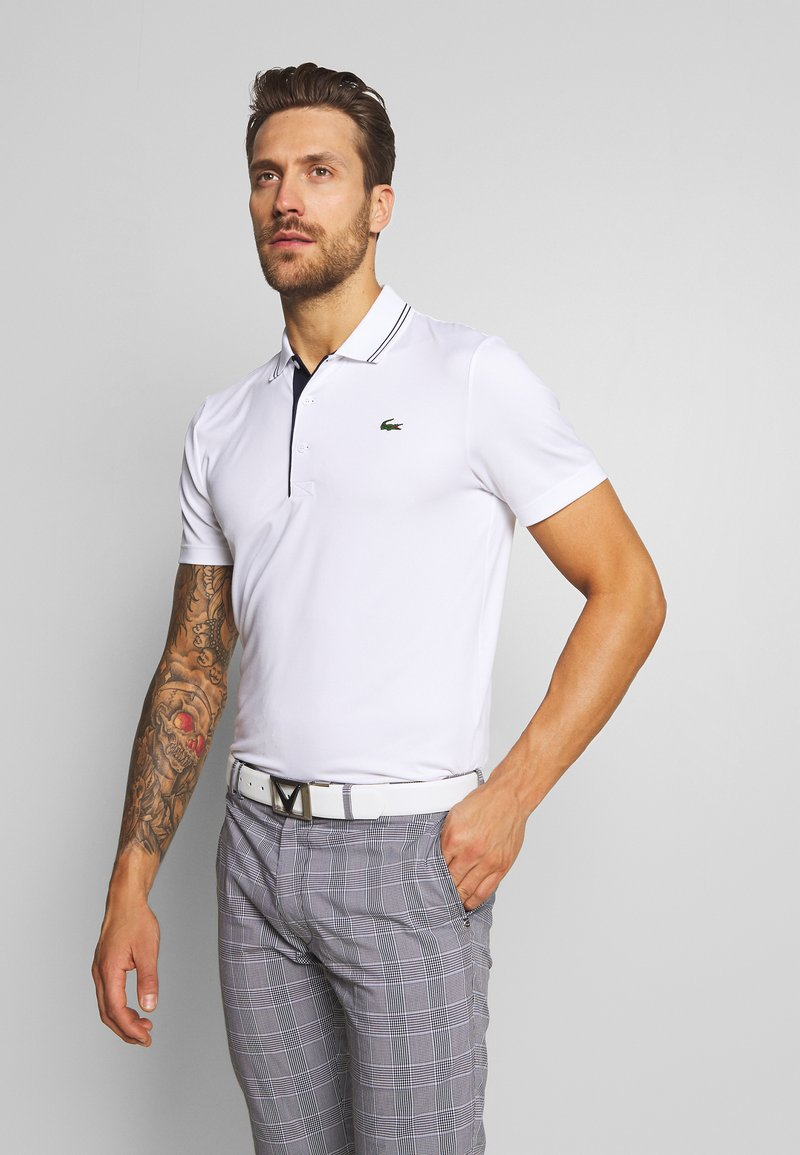 Lacoste Sport - BASIC GOLF - Sportshirt - white/navy blue
