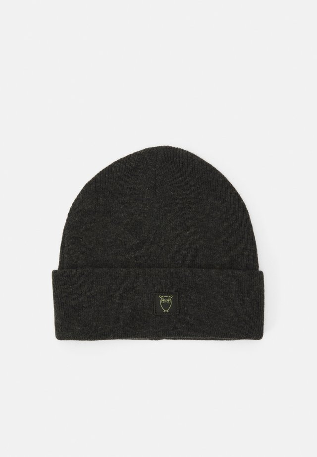LEAF BEANIE UNISEX - Muts - forrest night