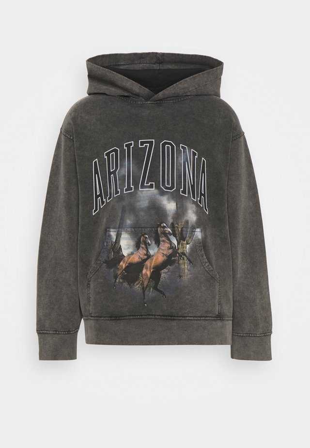 ARIZONA SCREEN HOODIE - Jersey con capucha - charcoal