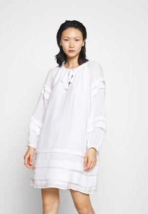 PINTUCK MINI DRESS - Day dress - white