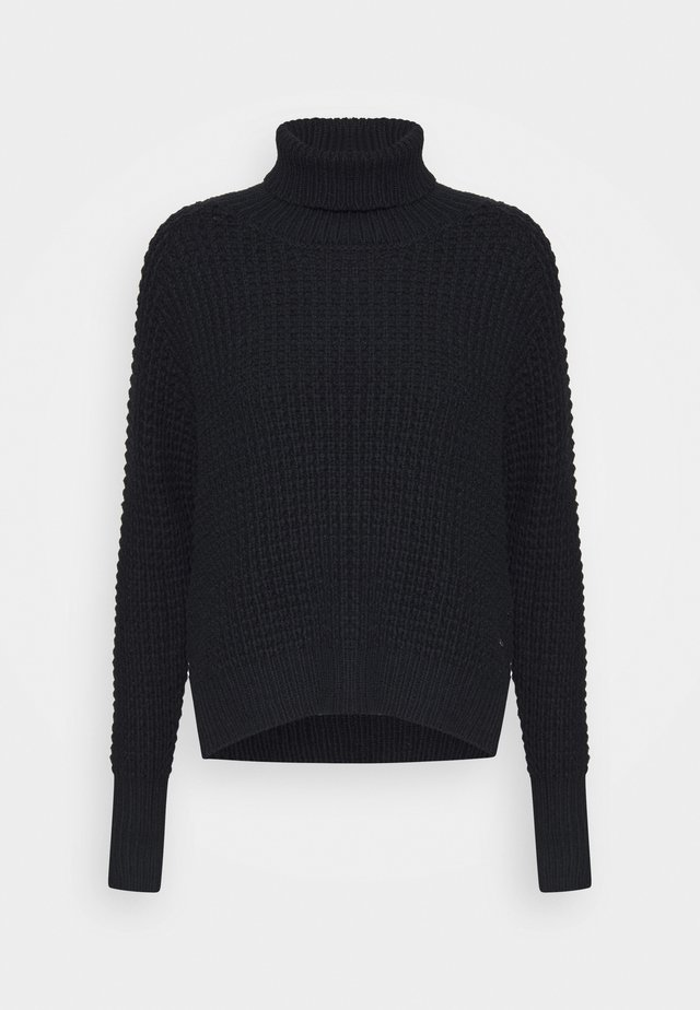 JAIDA TURTLENECK - Strikkegenser - black