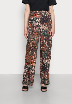 FLARED LEG - Pantalon classique - dark khaki