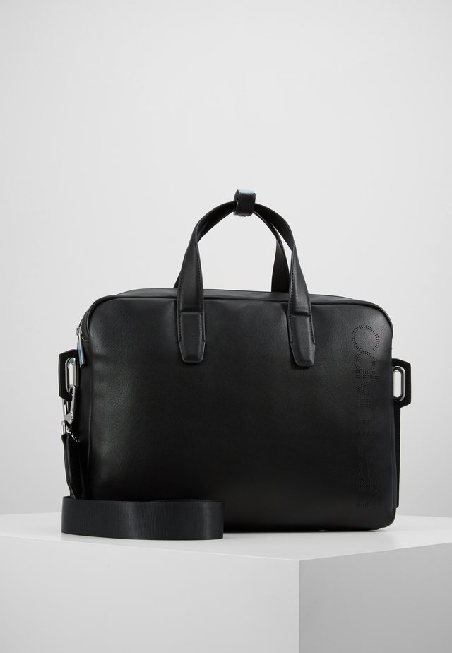 PUNCHED LAPTOP BAG - Laptop bag - black