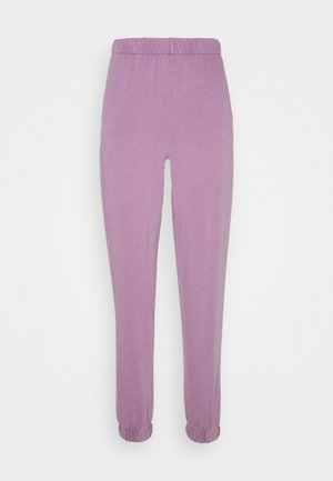 HIGHWAISTED TRACKPANT - Tracksuit bottoms - chalky lilac garment pigment dye