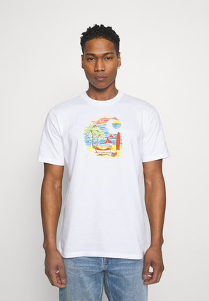 BEACH - Print T-shirt - white