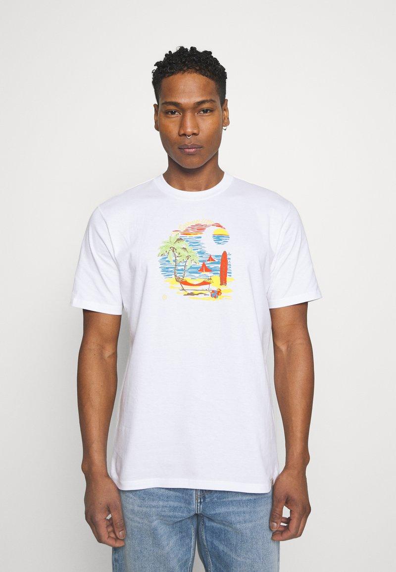 Carhartt WIP - BEACH - Print T-shirt - white