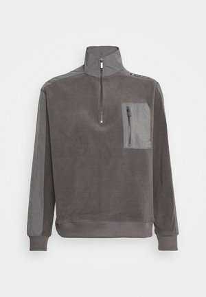 QUARTER ZIP - Felpa in pile - charcoal
