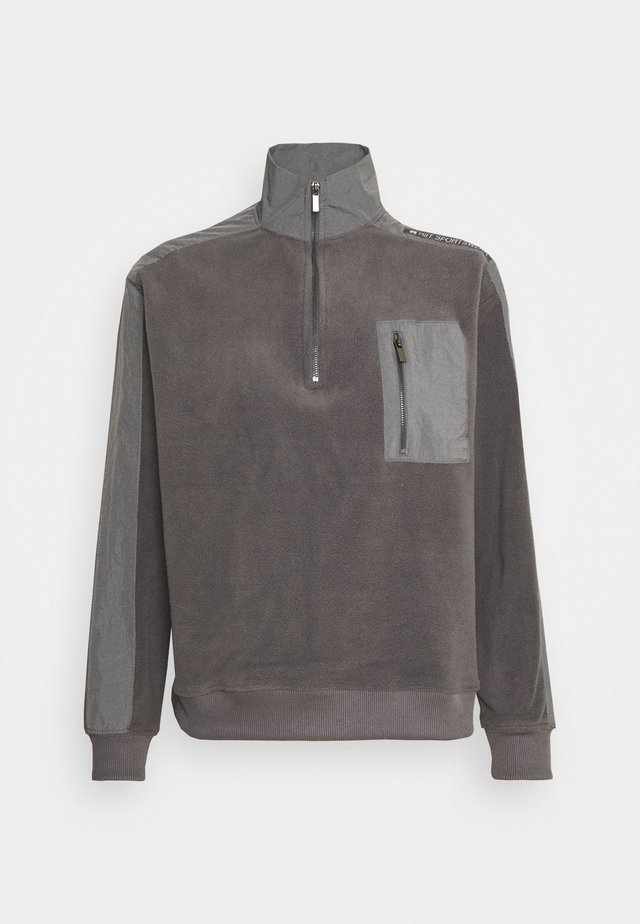 QUARTER ZIP - Fleecepaita - charcoal
