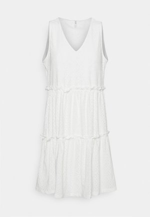 ONLLINA V NECK DRESS - Jersey dress - cloud dancer