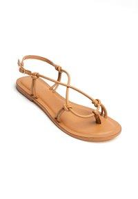 Les Bagatelles - KIKUE - T-bar sandals - tan - 2