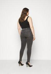 Selected Femme Curve - SLFINA SMOKE  - Jeans Skinny Fit - black denim - 2
