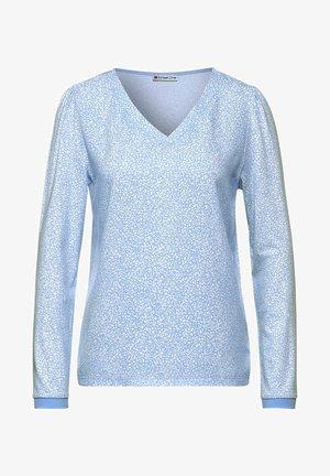 MIT MUSTER - Long sleeved top - blau