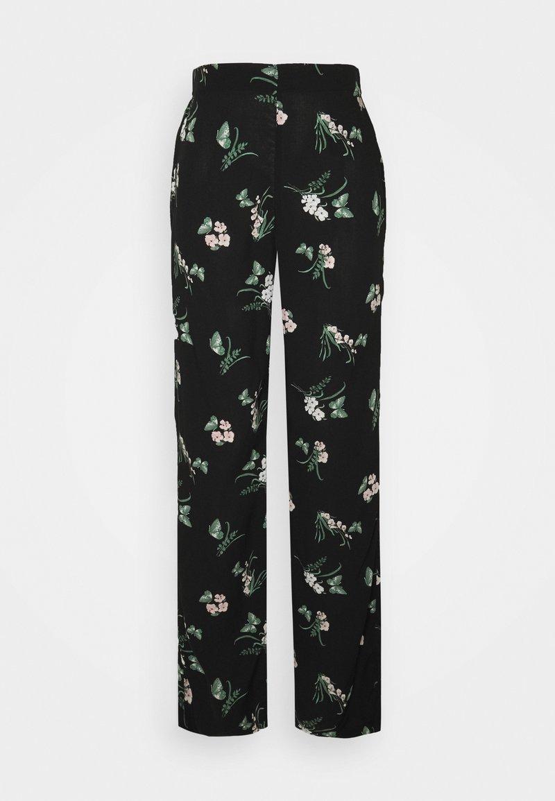 Vero Moda Tall - VMSIMPLY EASY  WIDE PANT - Broek - black