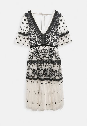 MIDSUMMER DRESS - Juhlamekko - champagne/black