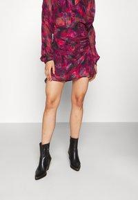 Iro - PASCOT - Mini skirt - fushia/black/red - 0