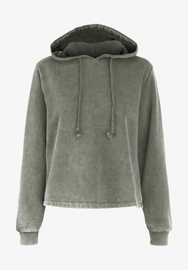 PCCHILLI LS - Bluza z kapturem - light grey melange