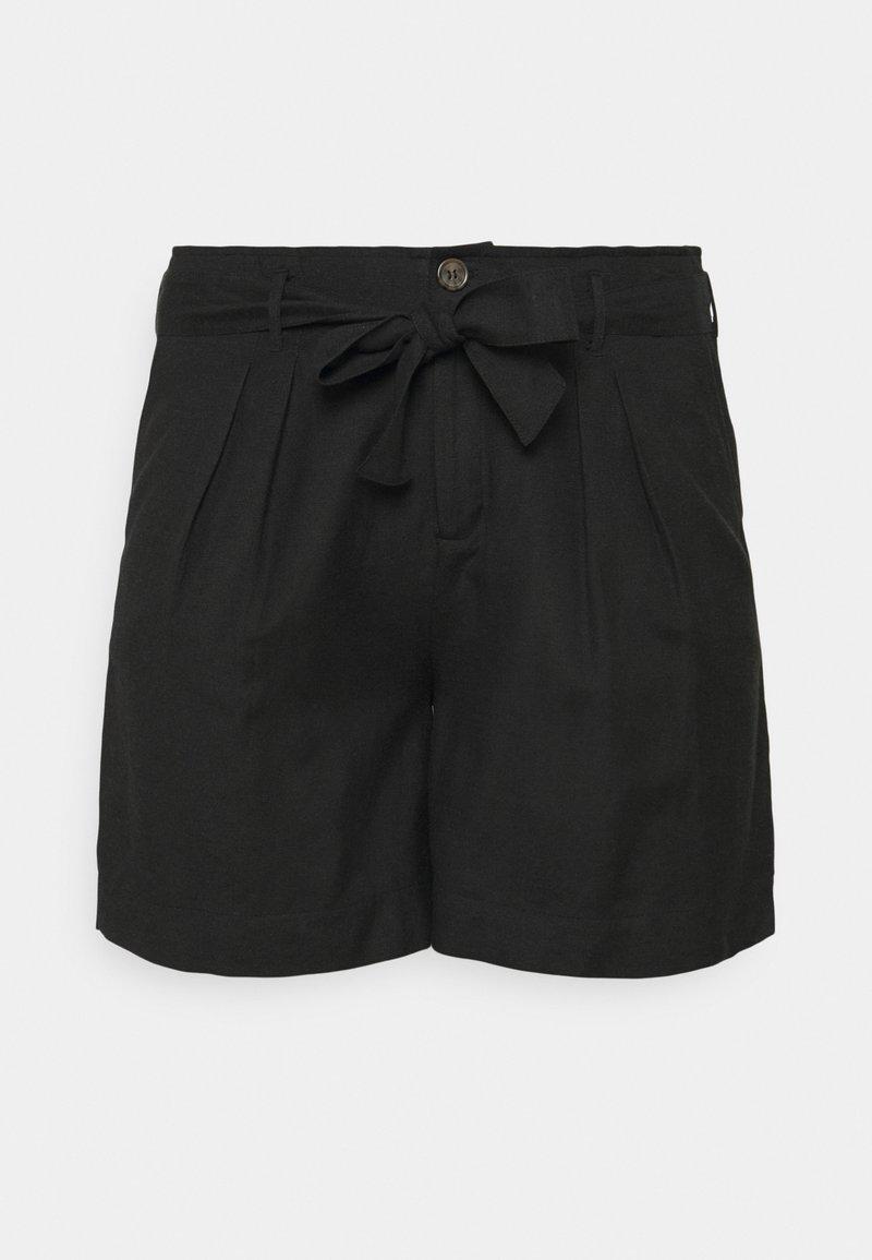 ONLY Carmakoma - CARVIVOSA LIFE BELT - Shorts - black
