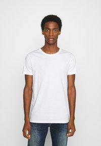 LTB - 3 PACK MULTI - Basic T-shirt - navy/bordeaux/white - 2